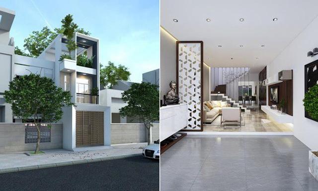 Nhà phố 56 m2 thiết kế đẹp như biệt thư hạng sang - Ảnh 1.