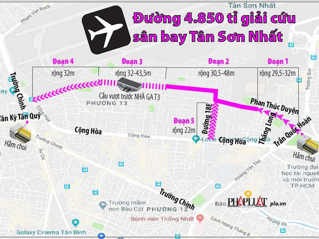 8 san baygevw 15672152741854675879 - Gần 4.850 tỉ nối đường giảm tắc sân bay Tân Sơn Nhất