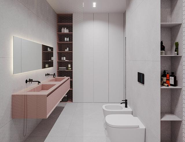photo 10 15662673906271867513753 - Căn hộ sử dụng màu trắng, xanh lá và hồng để trang trí