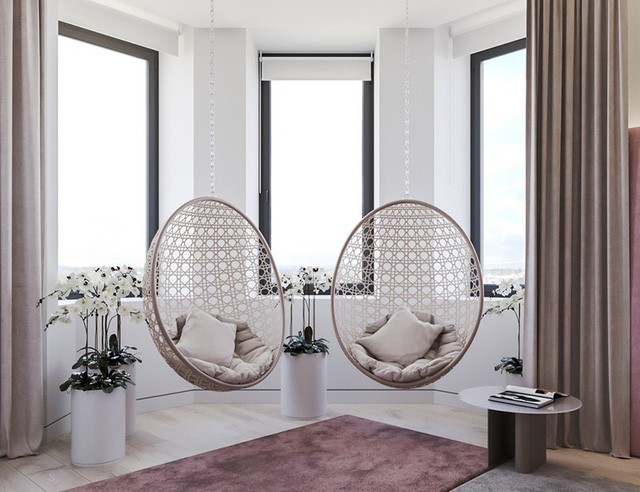 photo 8 1566267390625992162852 - Căn hộ sử dụng màu trắng, xanh lá và hồng để trang trí