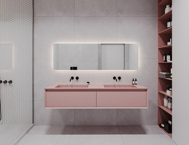 photo 9 15662673906251415518040 - Căn hộ sử dụng màu trắng, xanh lá và hồng để trang trí