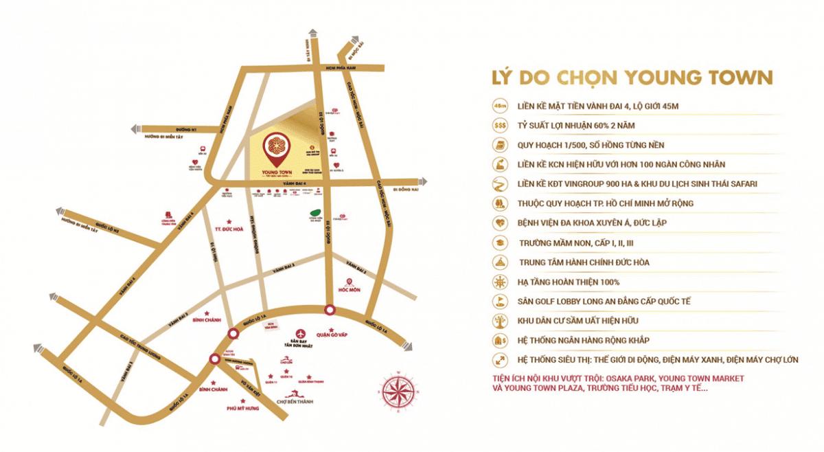 vi tri du an young town - #1 YOUNG TOWN TÂY BẮC SÀI GÒN