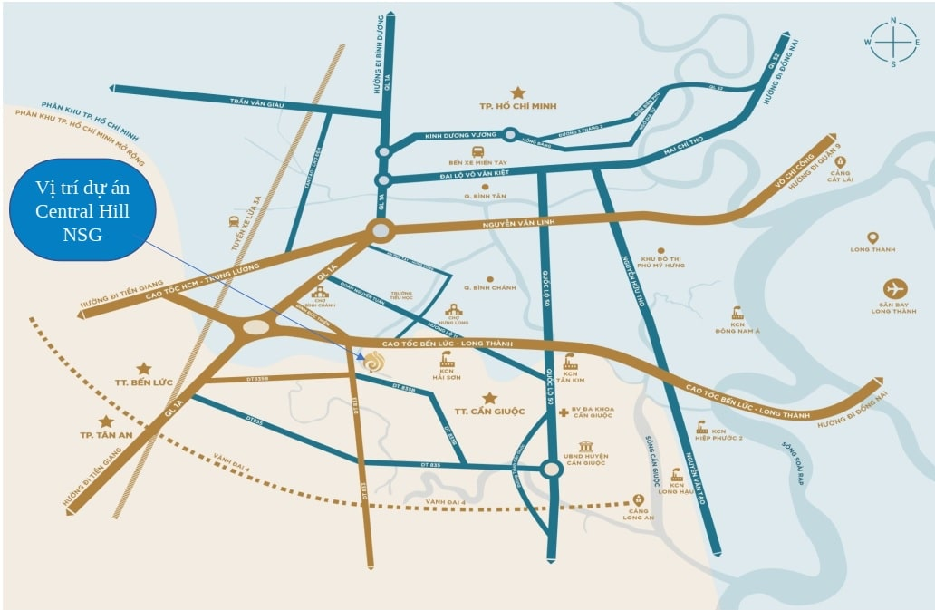 vi tri du an central hill nam sai gon - Những lý do nên đầu tư Dự án Central Hill Nam Sài Gòn