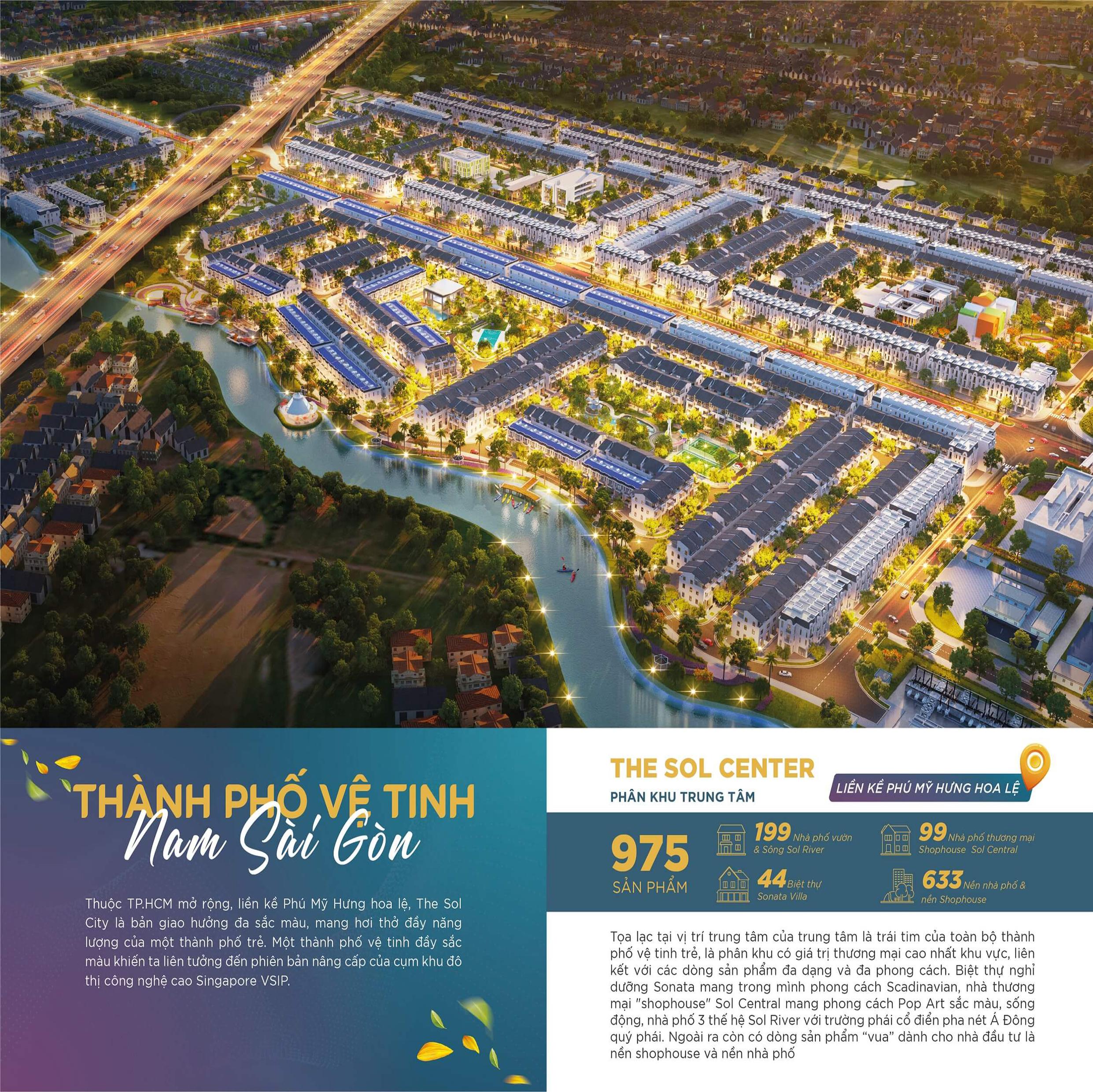 the sol city thành phố vệ tinh nam sài gòn