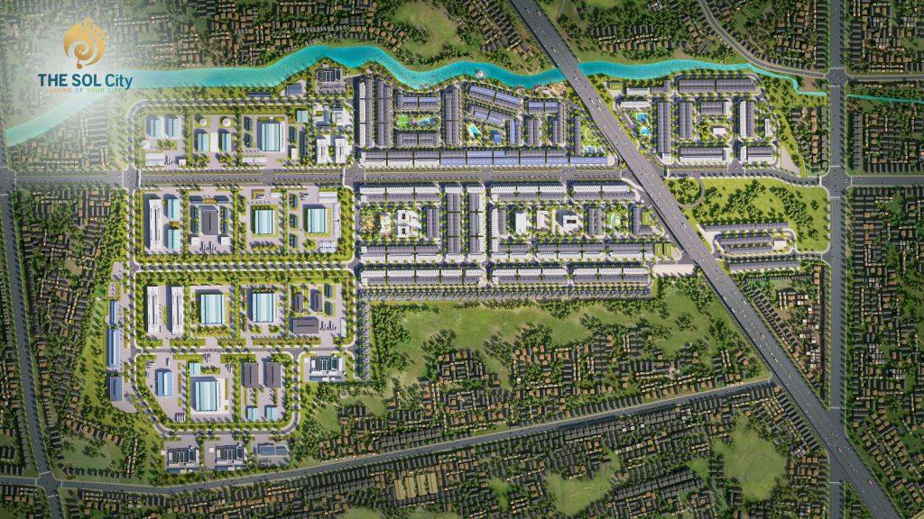 Mặt bằng tổng thể dự án The Sol City