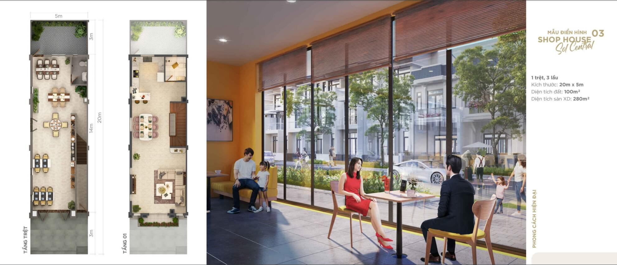 shophouse the sol city thắng lợi group