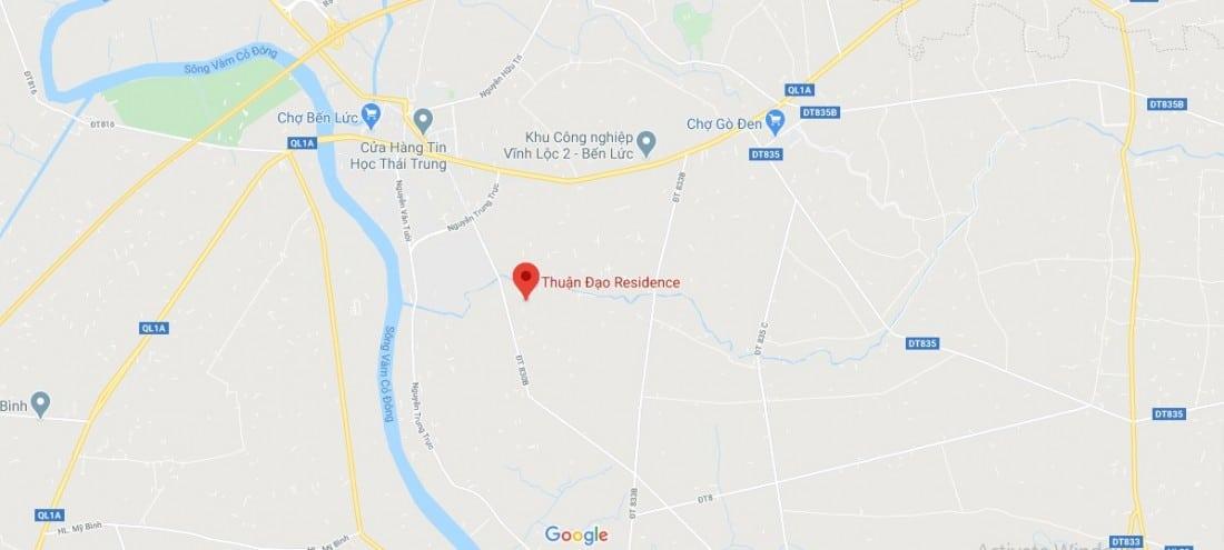 vị trí Thuận đạo residence